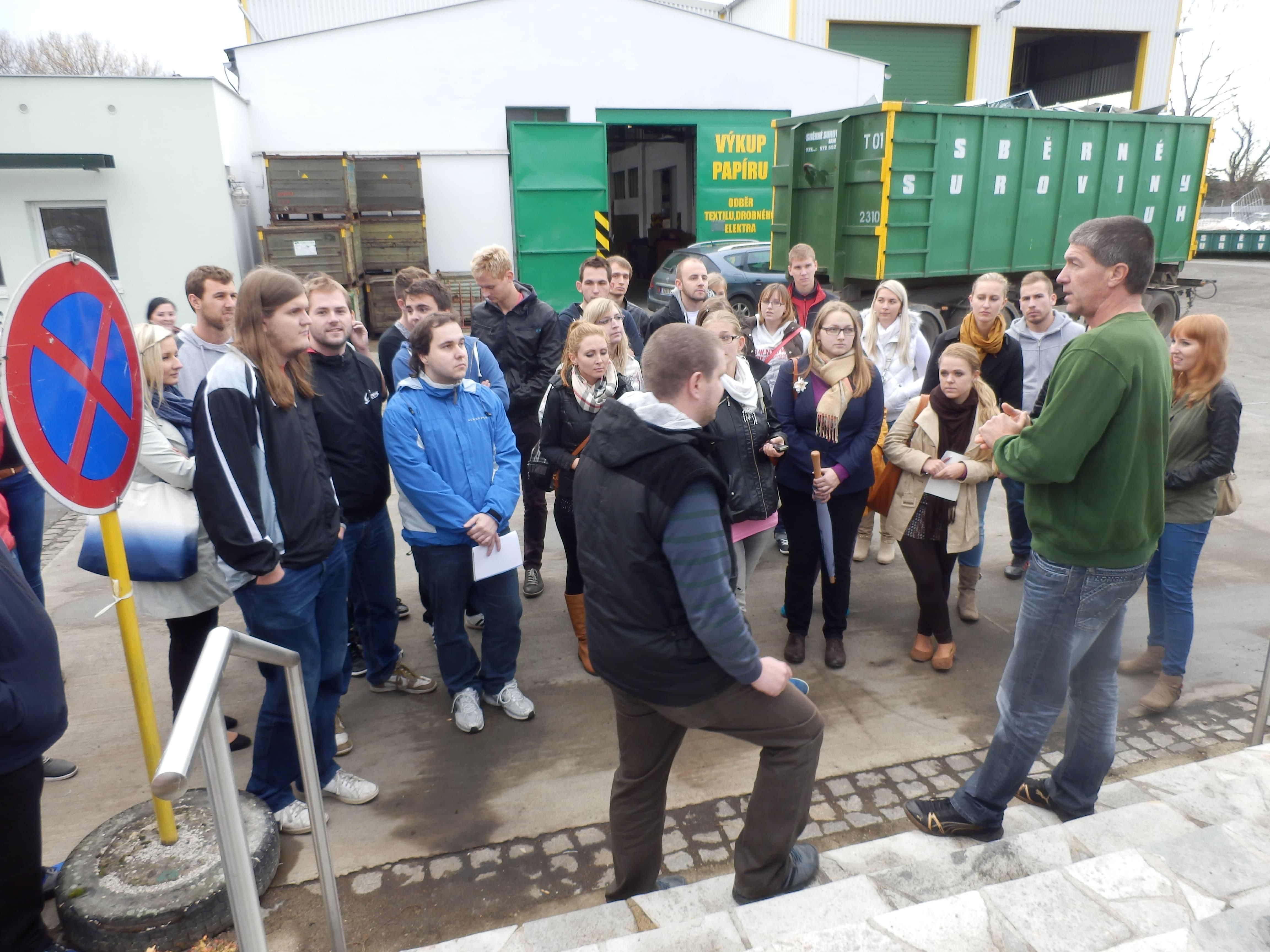 Exkurze studentů Univerzity Tomáše Bati