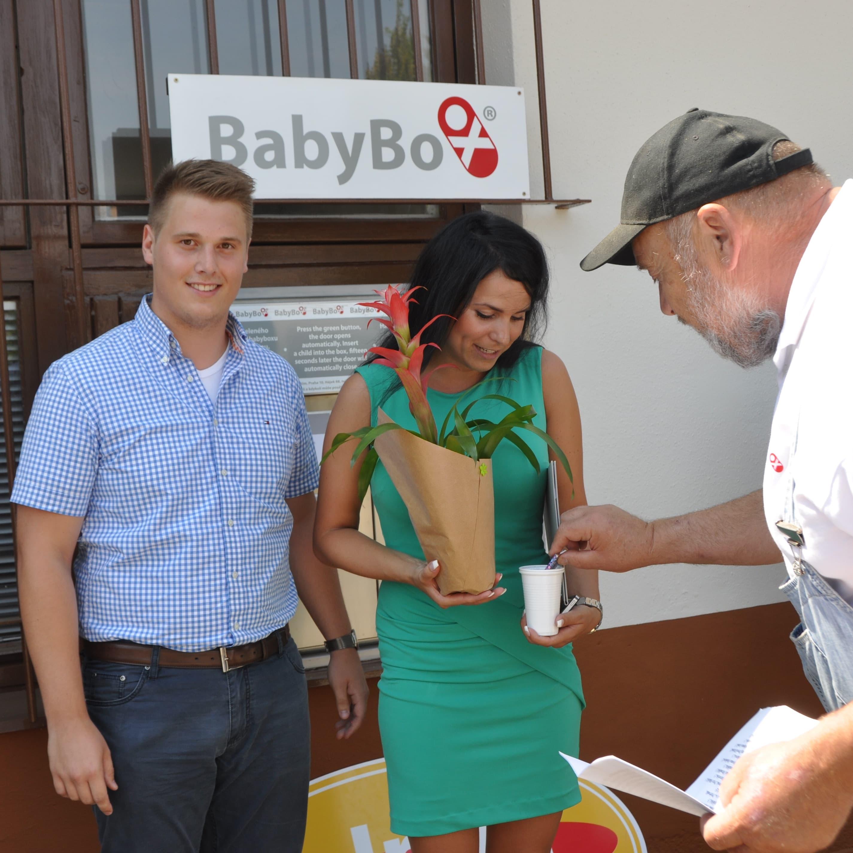 Otevření babyboxu